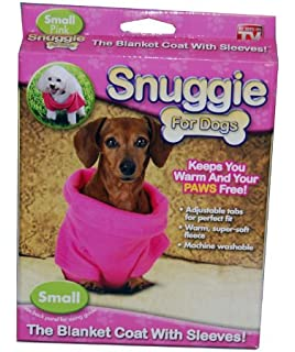 92b063e434 Amazon.com   Snuggie for Dogs Blue Colored Fleece Blanket Coat with ...