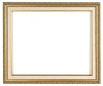 rabbetworks classic gold picture frame with linen liner 16x20