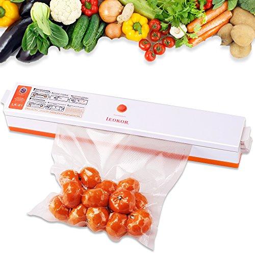 Vacuum Sealer, LEOKOR Automatic Vacuum Sealing System for Food Sealers Vaccum Packing with Starter Kit Plus 15 Pcs Saver Bags