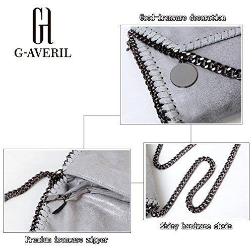 G-AVERIL - Bolso de asas para hombre negro negro plateado