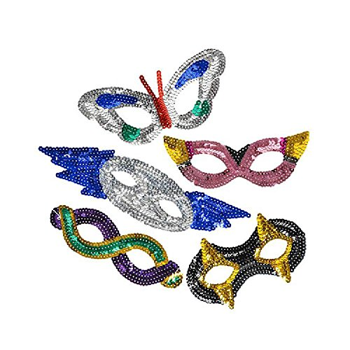 - Assorted Sequin Masks (With Sticky Notes)
