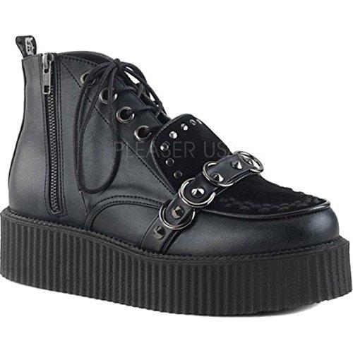 (デモニア) Demonia メンズ シューズ靴 スニーカー V Creeper 555 High Top [並行輸入品] B07CHHVG3J