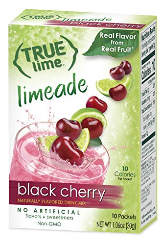 (True Lime Limeade Stick Pack, Black Cherry, 10 Count)