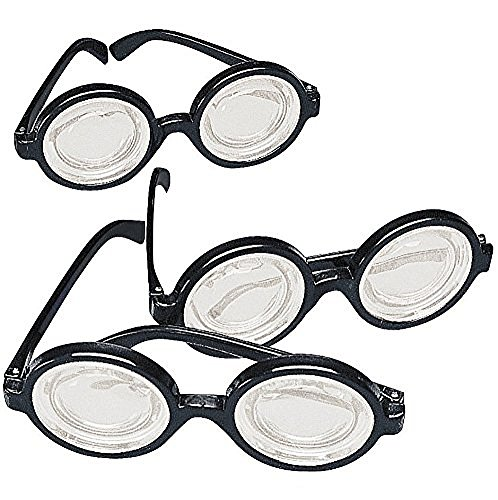 Black Glasses Plastic Costume Favors