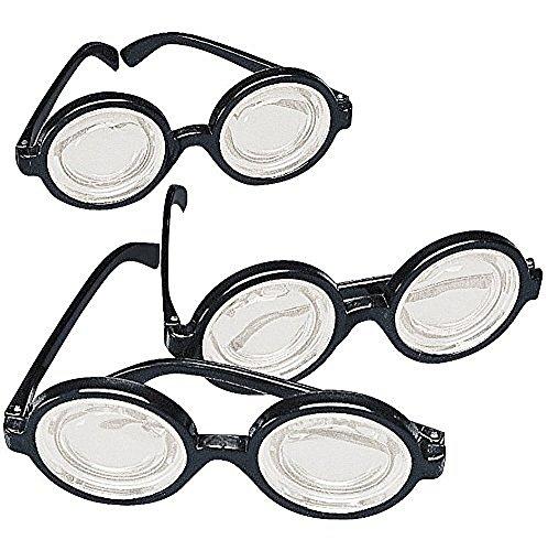 Black Glasses Plastic Costume Favors