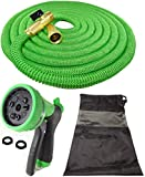 NEW 2017 DT ULTRALIGHT Garden Hose NEVER KINKS Expandable, With SOLID BRASS ...