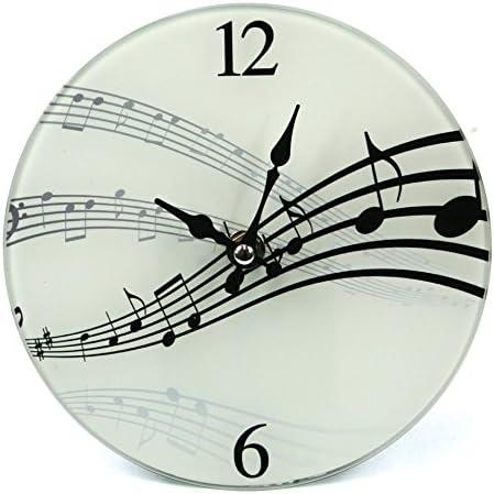 Ginger Interiors Orologio da Parete//Tavolo/ /Music Design Glass Clock 142//–/581