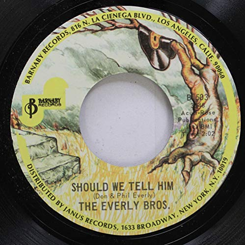 THE EVERLY BROS 45 RPM SHOULD WE STILL HIM / THE LITTLE GIRL OF MINE