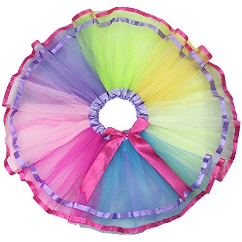 Jastore® Girls Layered Colorful Tutu Skirt Dance Princess Ballet Dress (Childrens Dress Up Clothes)