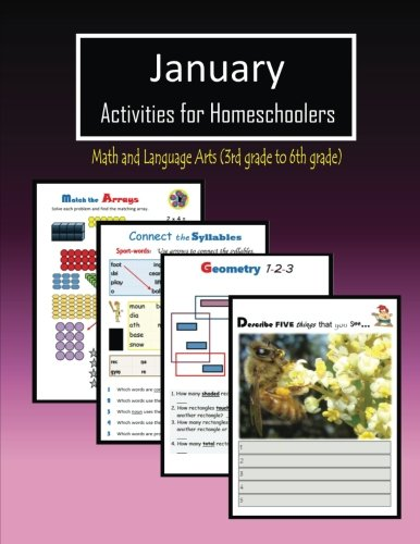 January Activities for Homeschoolers: Math and Language arts (3rd ...
