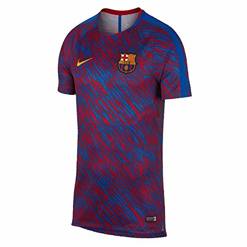 2017-2018 Barcelona Nike Pre-Match Dry Training Shirt (University Red) - Kids