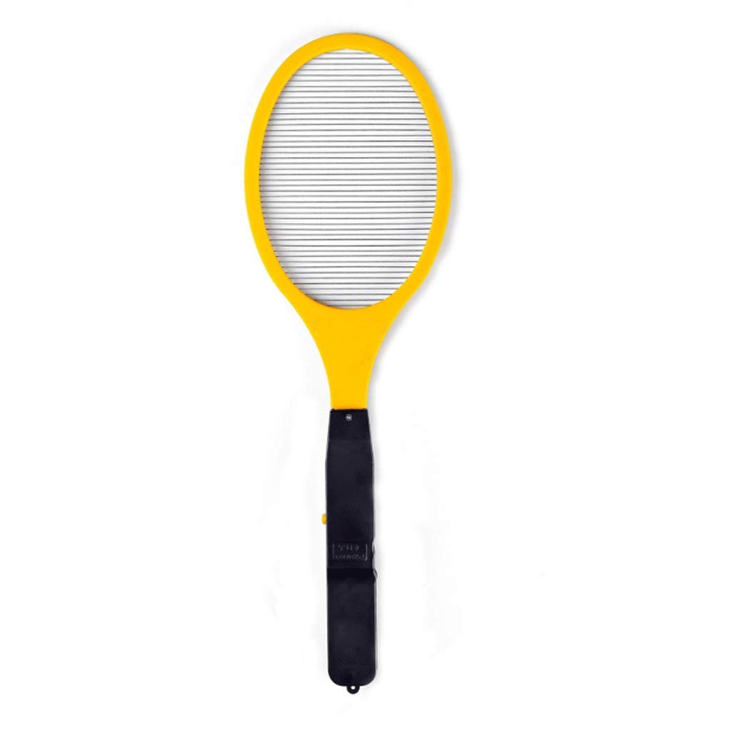 Yellow Single-Layer Battery Type Electric Mosquito Swatter Yellow Simple Mosquito Fly Swatter