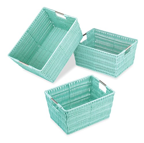 Whitmor Rattique Storage Baskets - Seafoam (3 Piece - For The Bath Basket