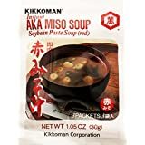 Kikkoman Instant Aka Miso Soybean Paste Soup Red, 30g