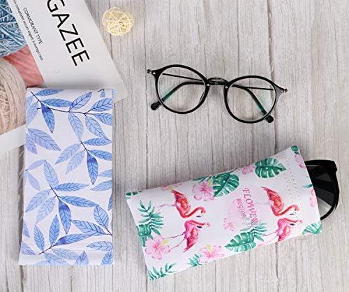 Hifot brillenetui 3 St/ücke PU leder Sonnenbrille Beutel LesebrillenTasche Kunstleder Brillenbeutel Brillentasche f/ür herren damen