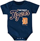 MLB Detroit Tigers Boys Infant Miguel Cabrera The Rookie Name and Number Jersey Onesie, Athletic Navy, 24 Months