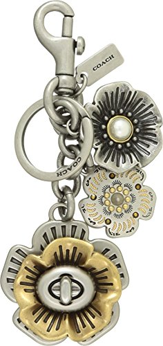 COACH Women's Tea Rose Bag Charm Sv/Multi One Size