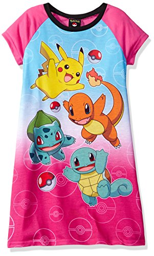Pokemon Big Girls' Nightgown, Pink, 8 Photo