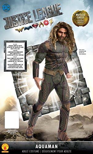 DC Comics - Disfraz Aquaman Deluxe para adultos, Talla única (Rubies 820751)
