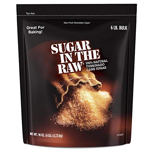 (Sugar in the Raw Cane Sugar, 6 lbs, Pack of 2)
