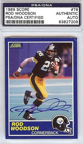 Rod Woodson Signed 1989 Score Rookie Card #78 Pittsburgh Steelers - PSA/DNA Authentication - Autographed NFL...