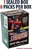 #5: 2017 Topps Stadium Club Baseball Factory Sealed 8 Pack Box - Fanatics Authentic Certified - Baseball Wax Packs