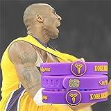 ZJKC 1Pcs Basketball Star Adjustable Sports Silicone Wristband Bracelet Kobe Sports Wristband