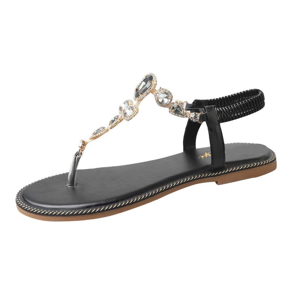 Subfamily Sandales d/écoratives en Strass boh/ème Sandales de Plage Tongs Sandales /à Plateforme Chaussures de Plage Ballerine Escarpin Chaussures de Ville