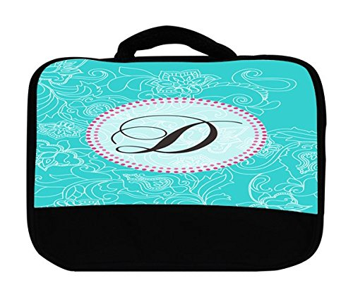 Monogram Letter D Swirl Pattern Canvas Lunch -