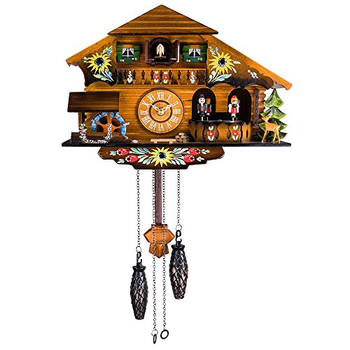 (Kintrot Cuckoo Clock Pendulum Quartz Wall Clock Black Forest House Home)