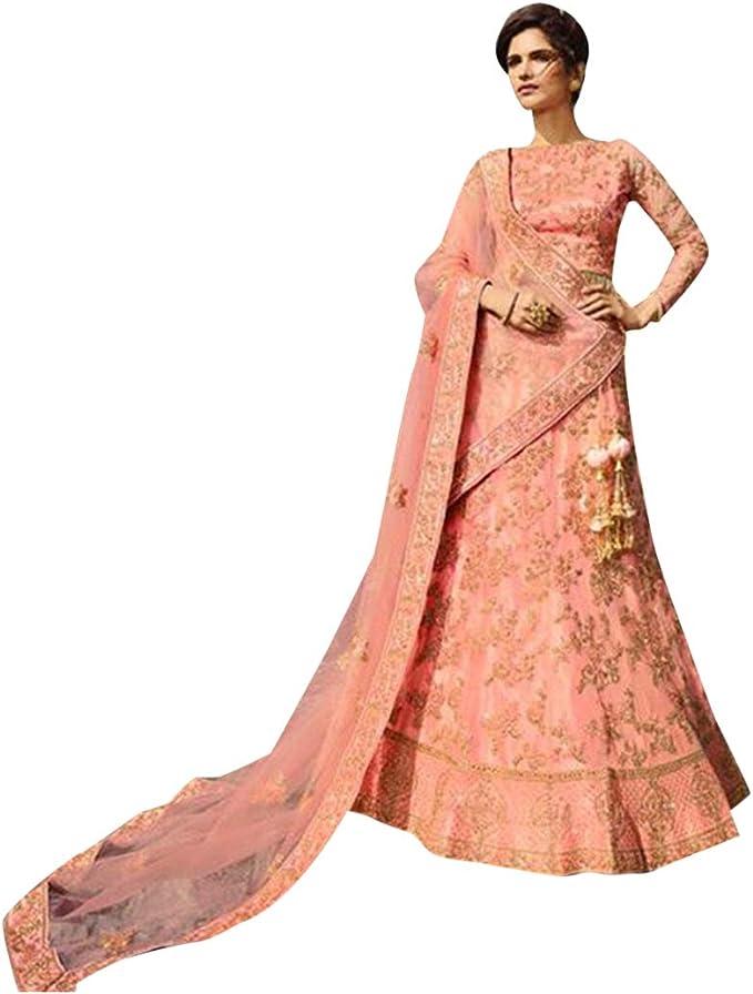 8510 Pink Designer Bridal Lehenga Choli Dupatta Skirt Falda Set ...