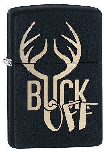 Zippo Buck Off Black Matte Lighter -