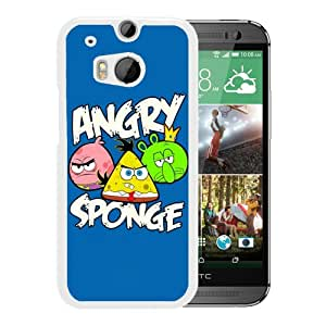 Popular Custom Designed Cover Case With Angry Birds 10 White For HTC ONE M8 Phone Case