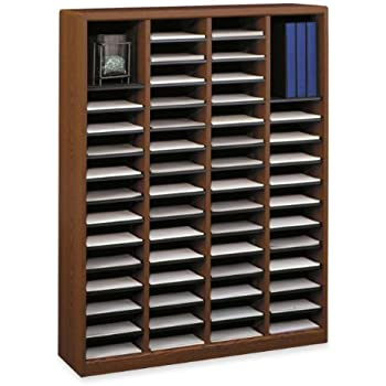 this item safco products 9331cy ez stor wood literature organizer 60 compartment gray