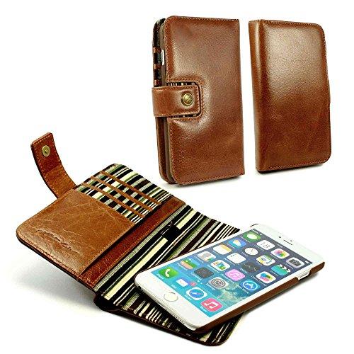 Alston Craig Personalisierte Tasche Hülle (z.B Ihr Name, andere Name, Inschrift) Tec E-scape Echtleder Geldbörse und hülle Portemonnaie einem im Vintage Look, mit magnetischer Halterung und (RFID-Ausl
