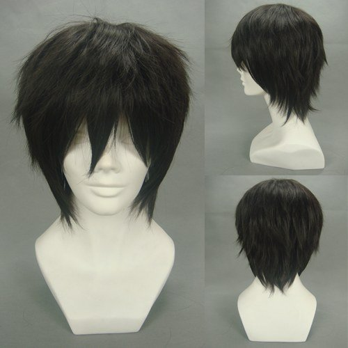 Death Note Anime L Cosplay Black Short Wig by Cosbeatles