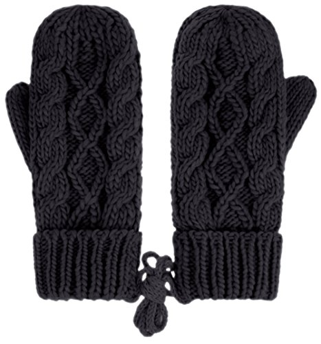 IL Caldo Womens Winter Glove Hemp Plush Lining Thick Knit Mitten Drive Work (Cable Knit Mittens)