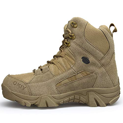 HCBYJ Schuhe Autumn and Winter high to Help Outdoor Tactical Stiefel Non-Slip Stiefel wear-Resistant Camping Men's schuhe