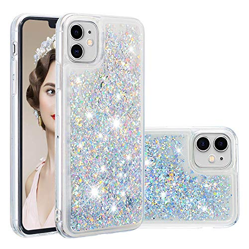 iPhone 11 Case, ZERMU Ultra Thin Fashion Transparent Back Bling Quicksand Flowing Luxury Glitter Durable Waterfall Fusion Moving Liquid Sparkling TPU Bumper Case for iPhone 11 6.1