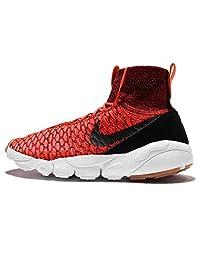 Nike Men's Air Footscape Magista Flyknit, BRIGHT CRIMSON/BLACK-GOLD LD-GM MD B, 11 M US