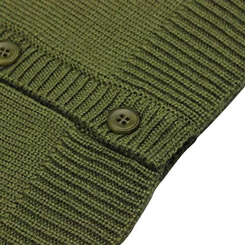Mini Phoebee Boys' V-Neck Button Front Merino Wool Blend Cardigan Sweater Vest 9T Green by Mini Phoebee (Image #2)