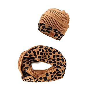 Crush Kids Girls Knit Beanie Hat and Scarf Set One Size Fits Most (See More Colors)