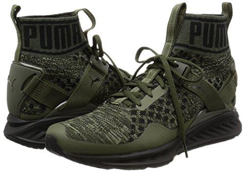Puma Ontbranden Evoknit Herren Sneaker Oliv (verbrand Olijf / Bosnacht / Puma Zwart)
