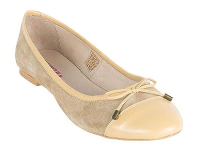 huge selection of 9f64b 71b3a Johannes Ballerina beige Leder W. Größe 44: Amazon.de ...