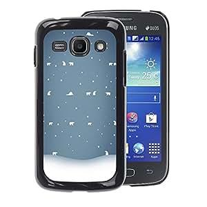 Planetar® ( Winter White Blue Nostalgic ) Samsung Galaxy Ace 3 / GT-S7270 / GT-S7275 Fundas Cover Cubre Hard Case Cover