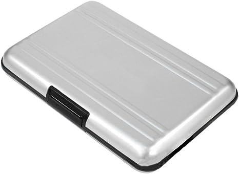 Aluminio 8 en 1 Micro SD Tarjeta de memoria SDHC de Almacenamiento Estuche Protector De Plata