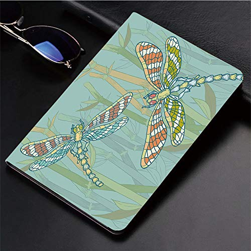 Compatible with iPad 2/3/4 Case,Dragonfly Figures on Lake Bushes Nature Exotic,Slim Anti-Scratch Shell Auto Sleep/Wake,3D Printed Protection Apple iPad 9.7