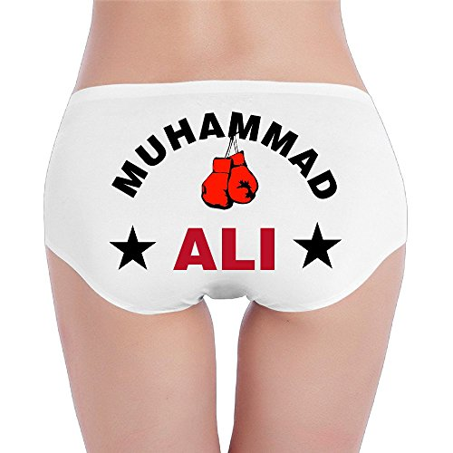 Clay Ortiz White (Womens Underwear Greatest Ali With Boxing Gloves Low-Rise Brief)