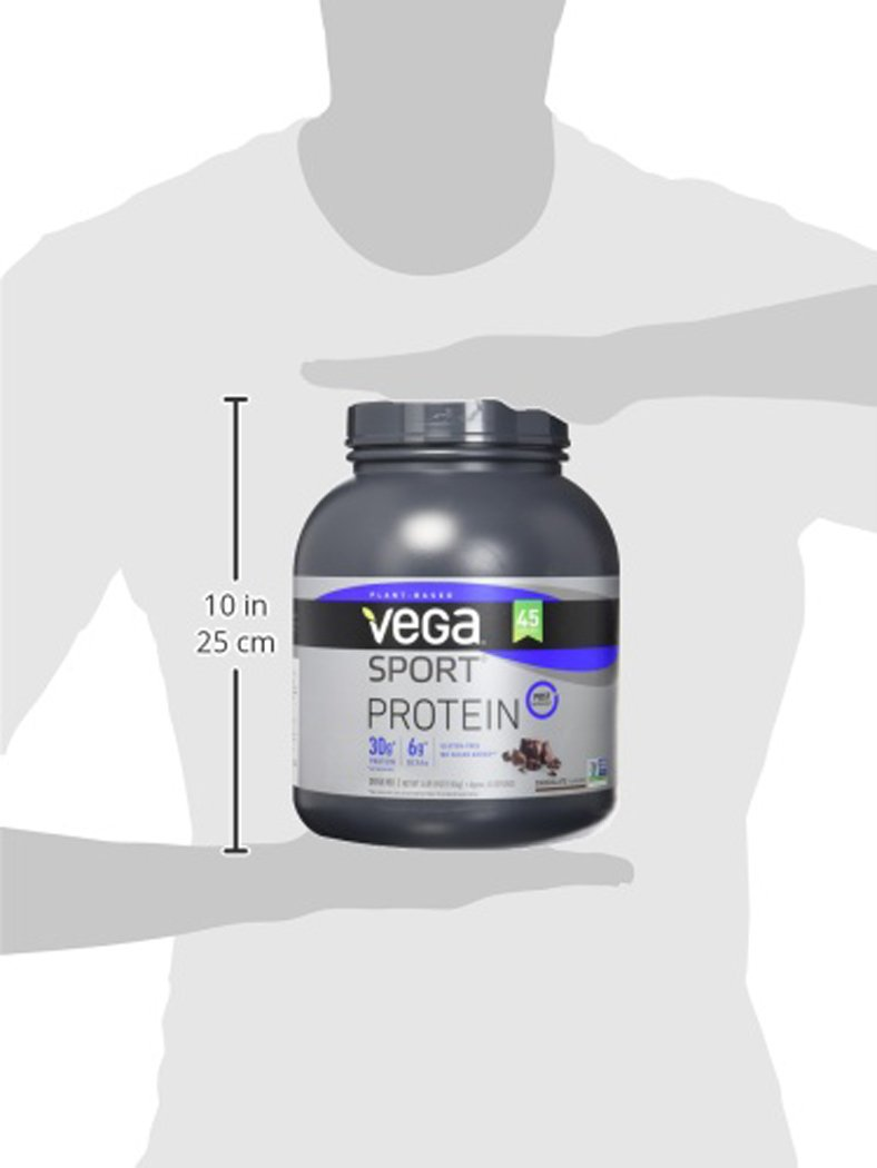 Vega Sport Protein Powder Chocolate (45 Servings, 4 lb 5.9oz) - Plant Based Vegan Protein Powder, BCAAs, Amino Acid, Tart Cherry, Non Dairy, Gluten Free, Non GMO (Packaging May Vary) by Vega (Image #11)