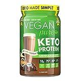 Vegan Pure Keto Protein Powder, Sugar Free, Gluten Free, Very Low Carb, Medium Chain Triglyceride, Plant Based Protein, Get into Ketosis! Chocolate 411g